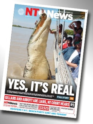 'Yes, its real'. Many couldn't believe a croc the size of Brutus was real. The NT News put all the rumours to rest with this front page.
