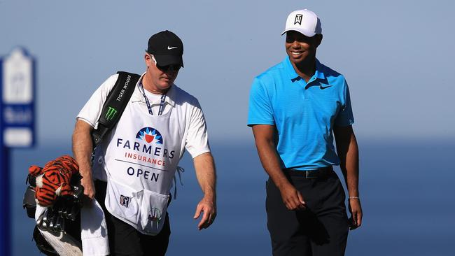Tiger Woods says he is pain free for the first time in years following back fusion surgery last year. Photo: Sean M. Haffey