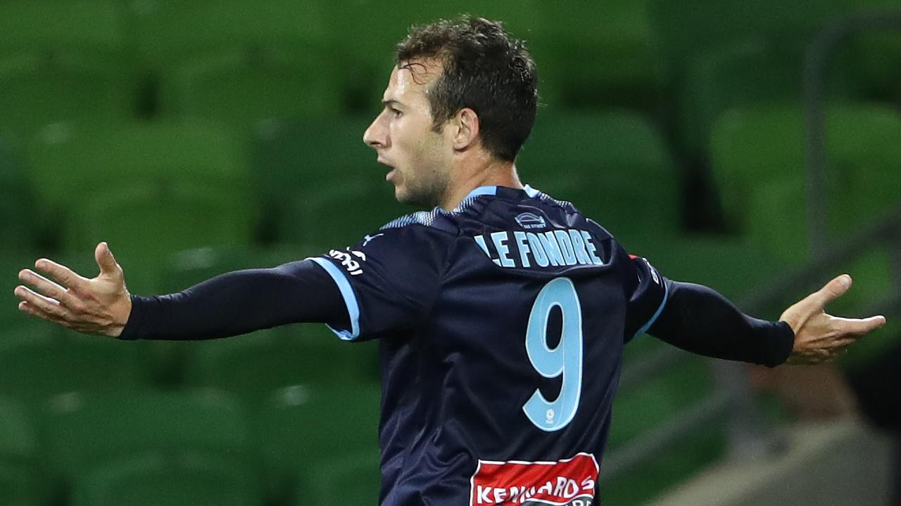 Adam Le Fondre scored twice as Sydney FC beat Melbourne City 3-0.