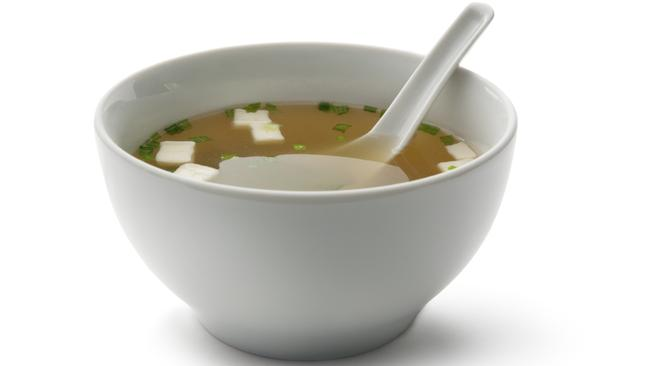 Add a cup of miso soup to your lunchtime order for a filling probiotic.