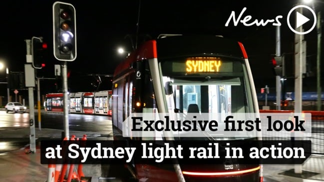 Exclusive first look at Sydney light rail in action