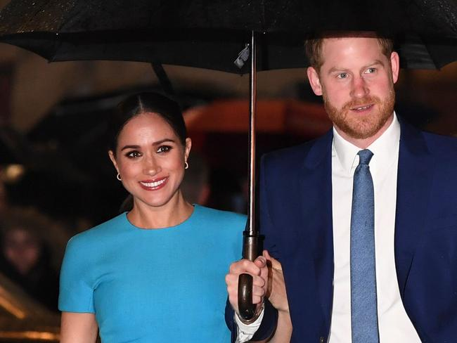 "A source said: ""Emptying their home and handing over the keys is a pretty strong sign Harry and Meghan have no plans to return."" Picture: Daniel Leal-Olivas/AFP."