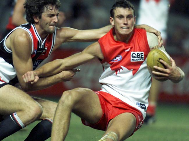 A young Fitzy takes on the Saints in 2000.