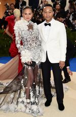 "Chrissy Teigen and John Legend attend the ""Rei Kawakubo/Comme des Garcons: Art Of The In-Between"" Costume Institute Gala at Metropolitan Museum of Art on May 1, 2017 in New York City. Picture: Getty"