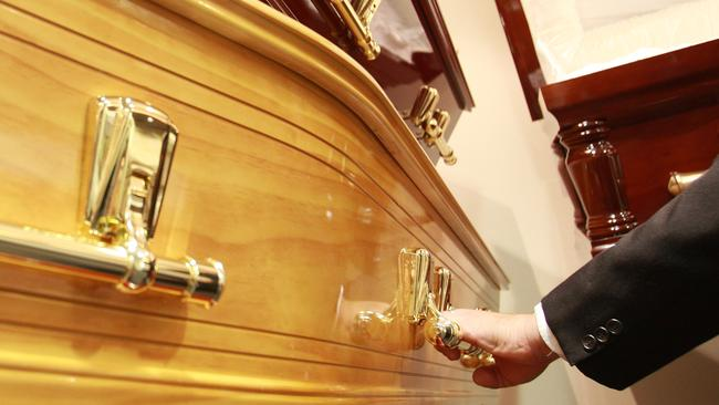 Money spent on a flashy coffin could be better put to use by loved ones. Picture: News Limited
