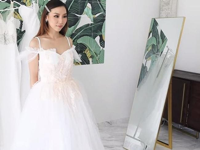 This was the best quality dress of the bunch. Picture: YouTube / Tina Yong