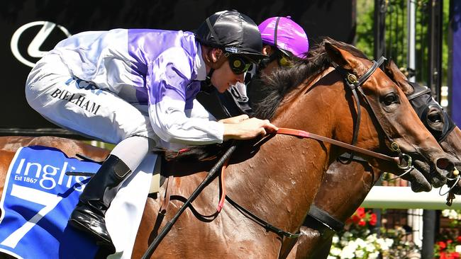 Flemington winner Tropezina was purchased at the Inglis Melbourne Premier Yearling Sales. Picture: AAP