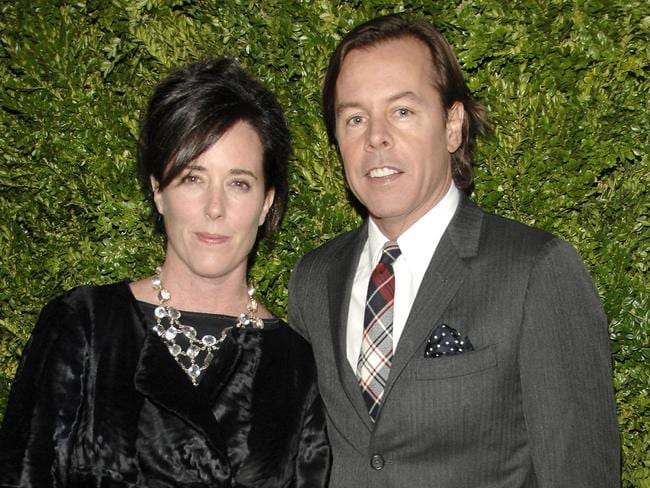 Kate Spade and Andy Spade in 2008 in New York City. Picture: Billy Farrell /Patrick McMullan via Getty Images