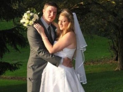 Lucy-Anne Rushton and Shaun Dyson eloped in 2010. Picture: Supplied