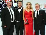 Darryl Brohman, Beau Ryan, Erin Molan and Paul Vautin pose with the Logie Award for Best Sports Program 'The NRL Footy Show' during the 58th Annual Logie Awards at Crown Palladium on May 8, 2016 in Melbourne, Australia. Picture: Scott Barbour/Getty Images