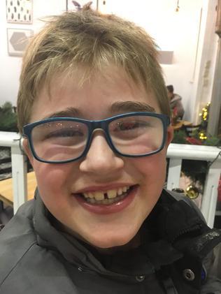 Big brother Caleb, 8. Picture: Julie Woolley