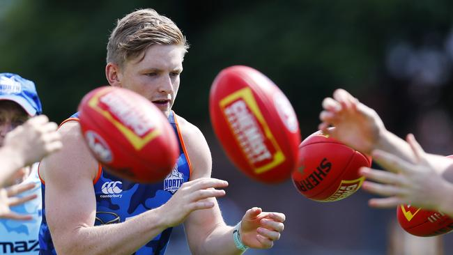 Jack Ziebell will captain North Melbourne in 2018. Picture: Michael Klein