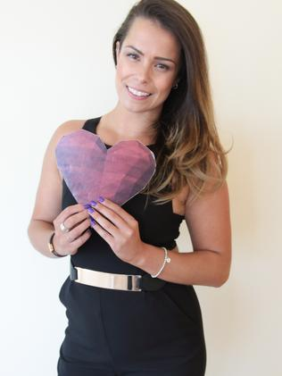 Lauren, who appears on new TV show First Dates on Channel Seven. Supplied by Channel Seven