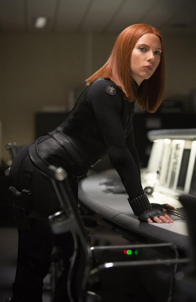 Scarlett Johansson as Natasha Romanoff in the Marvel series of movies. Picture: Supplied
