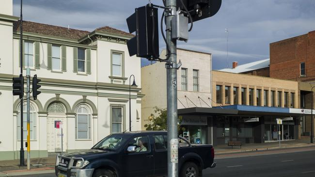 A street in the Wagga Wagga CBD, where the local economy is also improving. Picture: Sean Davey.