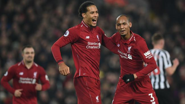 Fabinho and van Dijk will be crucial to Liverpool's chances. (Paul Ellis / AFP)