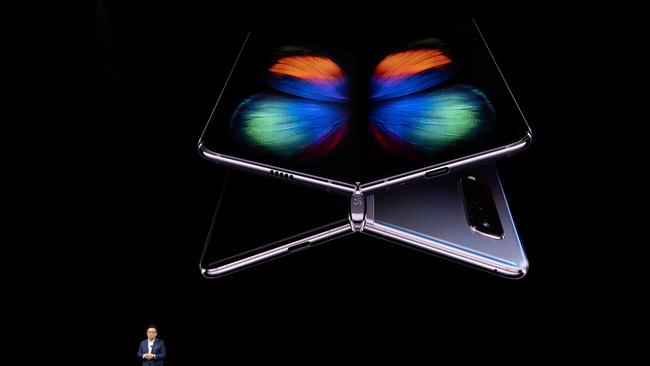 The Galaxy Fold was unveiled in February.