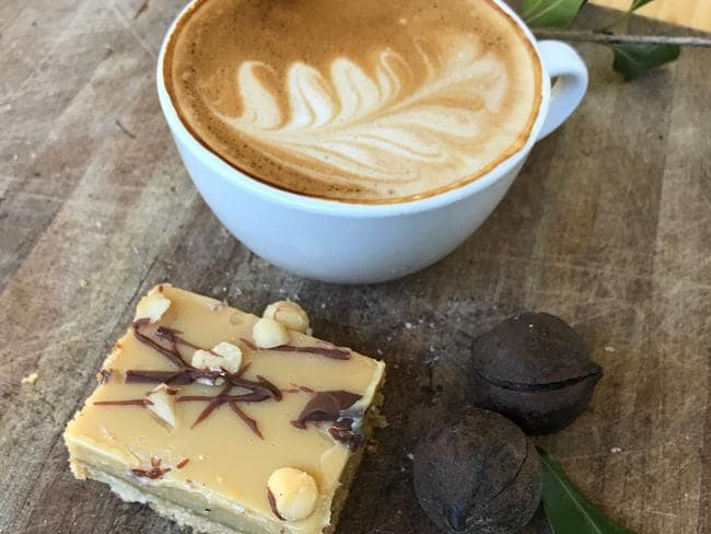 Caramel and macadamia slice. Picture: Jenifer Jagielski
