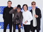 Magnus Larsson, Kasper Daugaard, Lukas Graham Forchhammer and Mark Falgren, members of Lukas Graham, attend the 2016 MTV Video Music Awards at Madison Square Garden on August 28, 2016 in New York City. Picture: Getty
