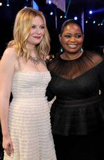 Kirsten Dunst and Octavia Spencer attend The 23rd Annual Screen Actors Guild Awards Cocktail Reception at The Shrine Auditorium on January 29, 2017 in Los Angeles, California. Picture: Getty