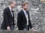 Britain's Prince William, left, and his brother Prince Harry arrive for the wedding of Pippa Middleton and James Matthews at St Mark's Church in Englefield Saturday, May 20, 2017. Picture: AP Photo/Kirsty Wigglesworth