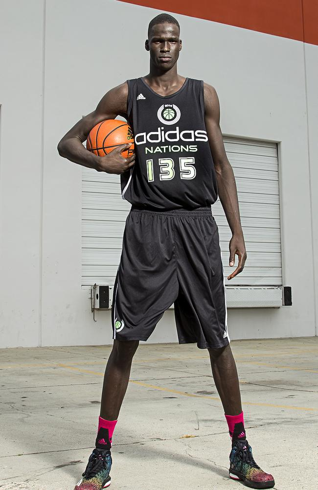 Thon Maker poses for a portrait in 2014.
