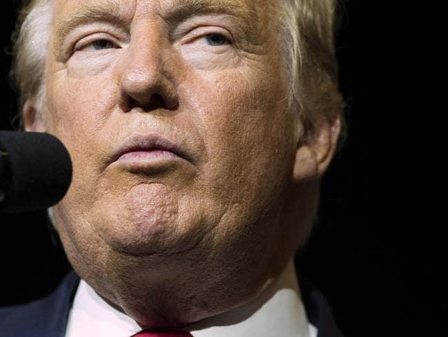 Trump has dismissed the 2005 video as locker talk. Picture: Evan Vucci/AP