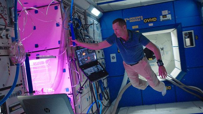 HP testing its Z-book for the International Space Station in zero gravity.