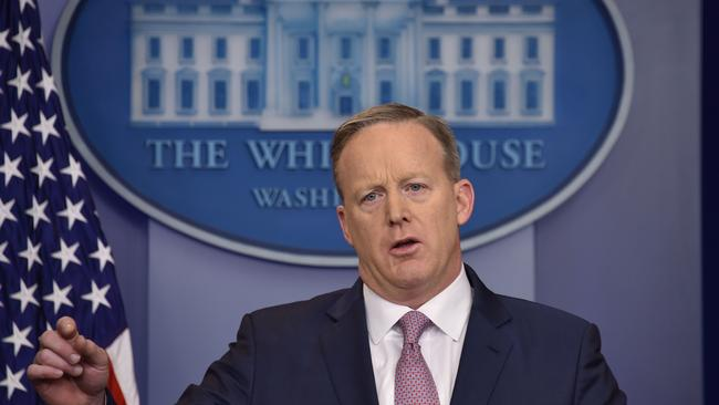 Mr Spicer used his first press conference to blast reporters over the size of Mr Trump's inauguration.