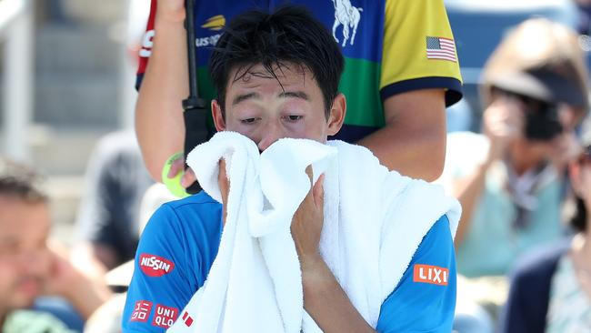 Kei Nishikori has withdrawn from the Australian Open. Picture: Al Bello/Getty
