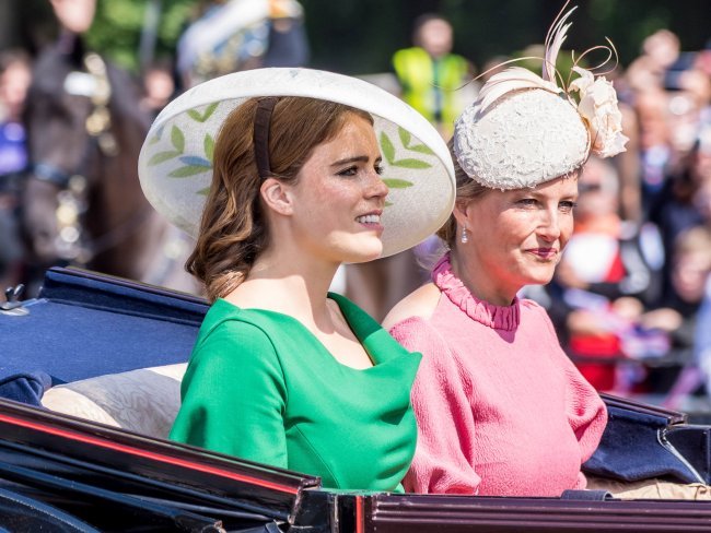 Princess Eugenie and Sophie, Countess of Wessex and Princess Beatrice rode together. Photo: MEGA