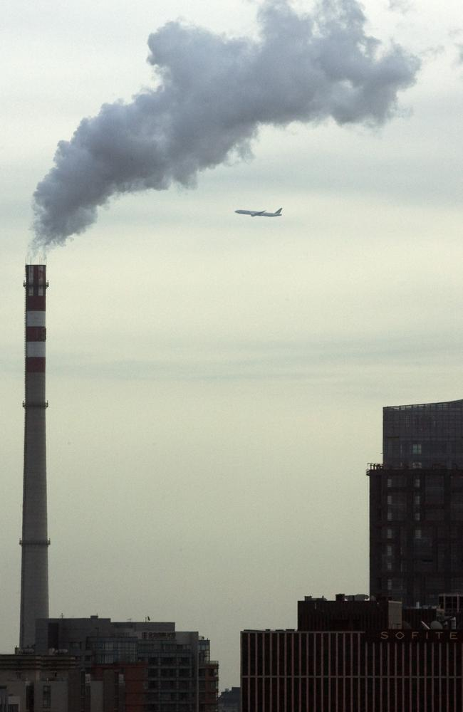 A coal power station generates smoke in Beijing, China.