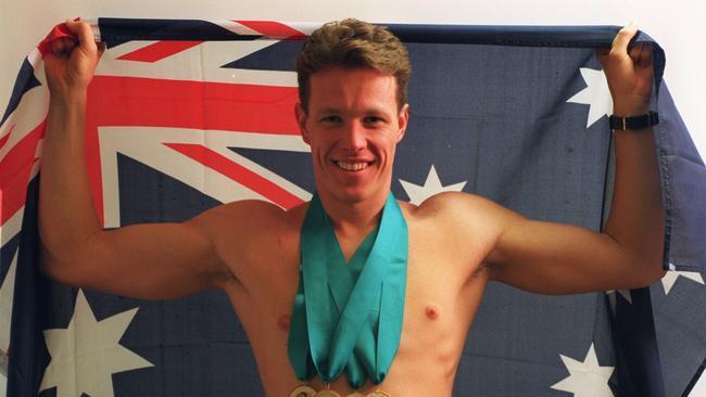Kieren Perkins won four gold medals in Victoria, Canada, 1994.