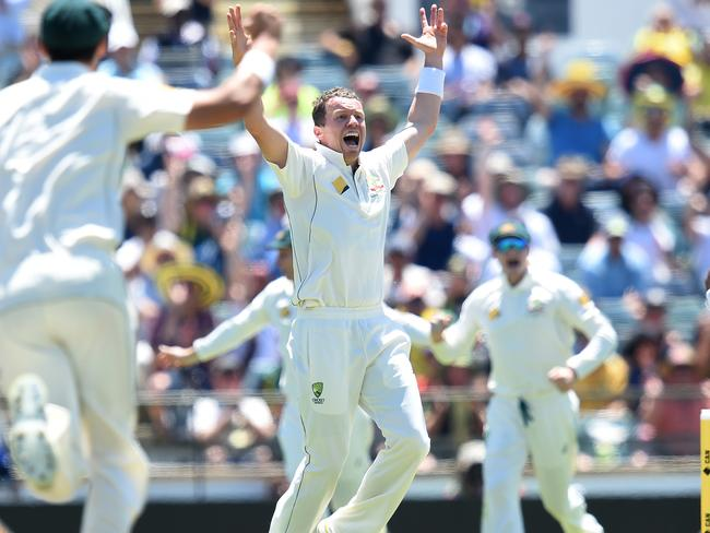 OUT! Siddle claims Duminy after his call went to the DRS.