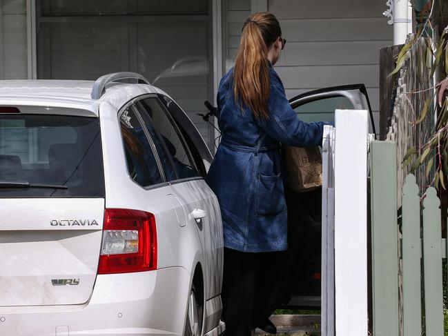 Belle Gibson at home in Northcote. Picture: Ian Currie
