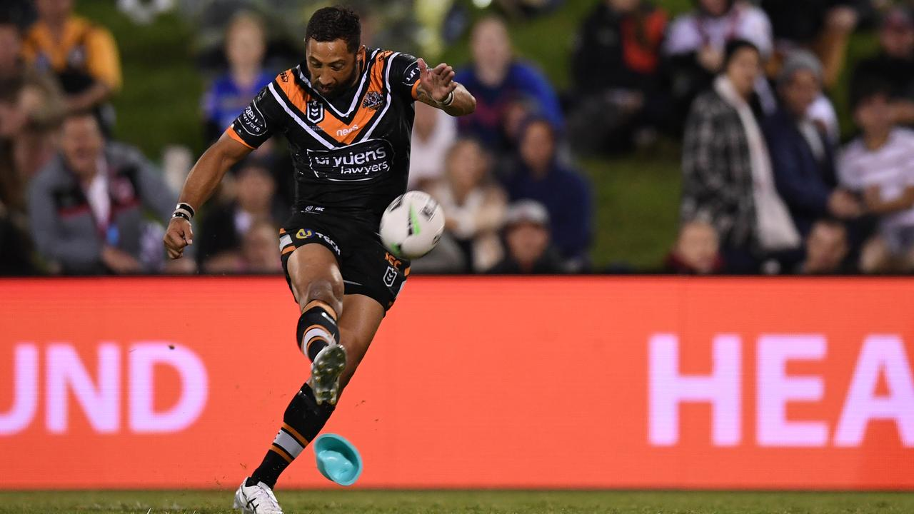 Benji Marshall shifted to halfback on Sunday to fill Luke Brooks' void and was brilliant. (AAP Image/Dean Lewins)