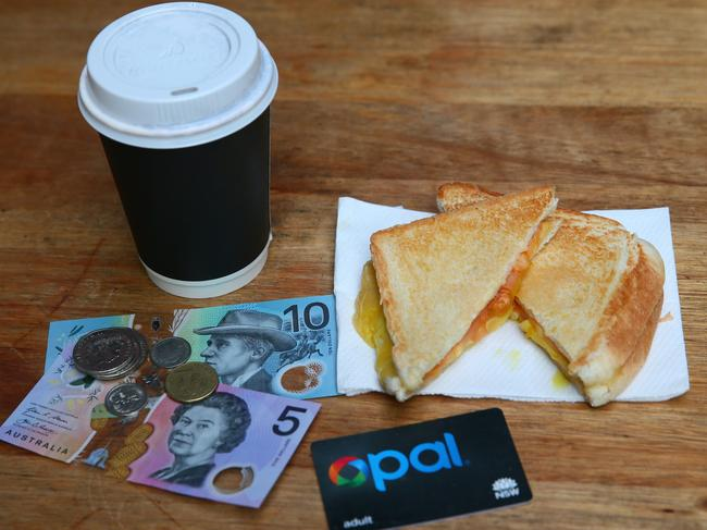 If you've accidentally put an old Opal card in your top drawer, it may contain enough money to buy your next lunch. Picture: AAP Image/Sue Graham.