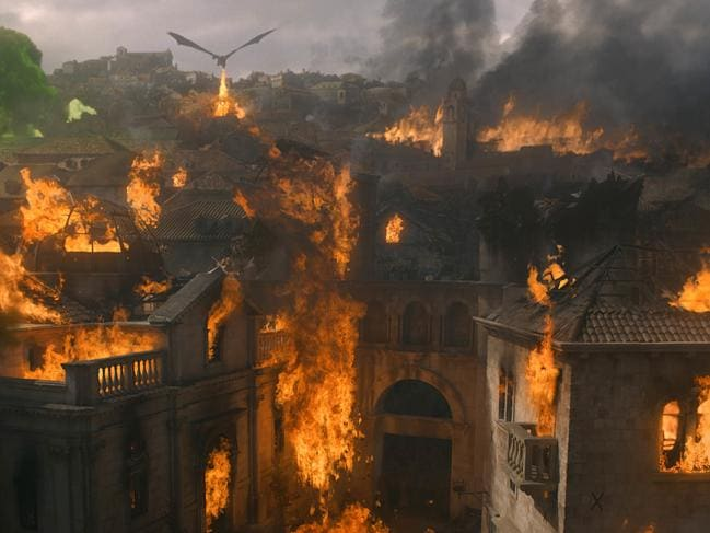Daenerys and her dragon turned King's Landing into a living hell. Picture: HBO via AP