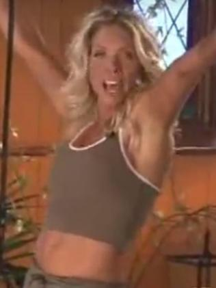 Crystal Andrus Morissette used to be a fitness model. Picture: YouTube