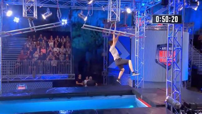 Dylan Pawson smashes his run on Australian Ninja Warrior