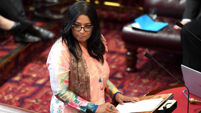 Greens MP Dr Mehreen Faruqi has been fighting for years for legislation to decriminalise abortion in NSW. Today her bill was knocked back. Picture: AAP Image/Paul Miller