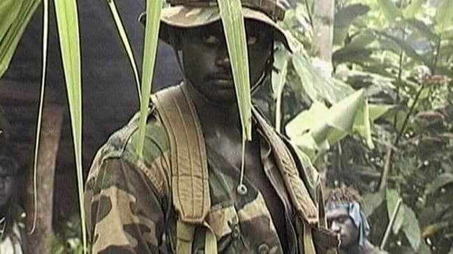 A Bougainville Revolutionary Army soldier in 1997. The bloody conflict in Bougainville killed up to 20,000 people. Picture: Wayne Coles-Janess