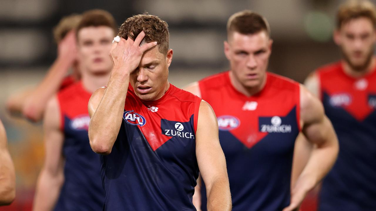 Jake Melksham's Demons have slumped to 15th on the AFL ladder. Picture: Michael Klein