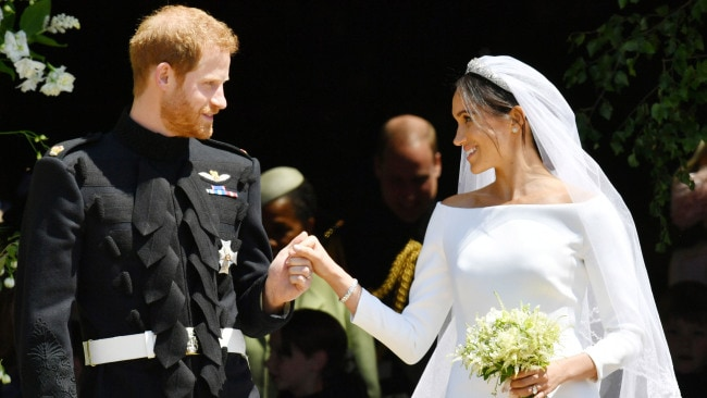 Givenchy's Waight Keller designed Meghan's incredible dress. Image: Ben Birchall - WPA Pool/Getty Images.