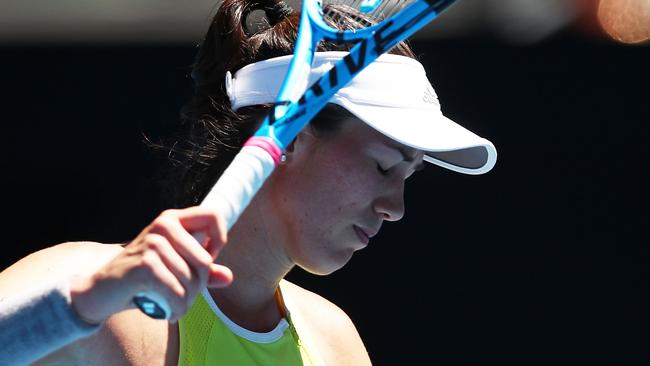 Garbine Muguruza is out of the Australian Open. Picture: Getty