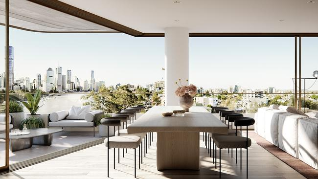 Three-bedroom apartments like this one in Prominence Residences are in demand in Brisbane.