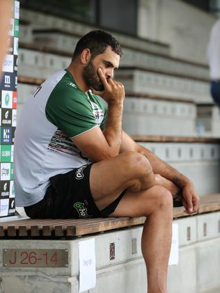 Greg Inglis needs to work out why he wants to play. Picture: Tim Hunter.