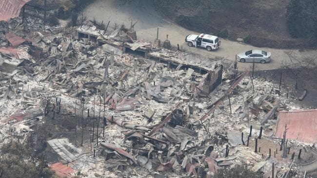 An aerial view of Marysville after it was razed to the ground by Black Saturday bushfires.