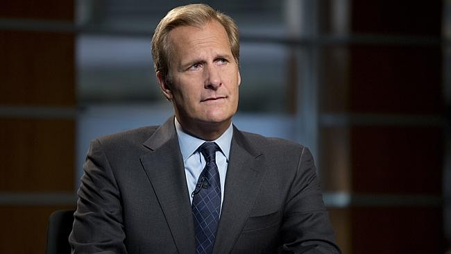 Jeff Daniels as anchor Will McAvoy, who isn't nearly as cool as Ron Burgundy.