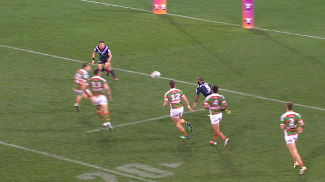 Josh Addo-Carr was ruled to have passed forward to Billy Slater.